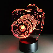 Camera 3D lamp entertainment LED colourful atmosphere remote vision stereo lamp