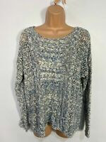 BNWT WOMENS MONSOON BLUE MIX MARL CASUAL KNITTED JUMPER SWEATER PULLOVER MEDIUM