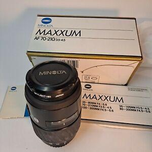 Mint Minolta AF 70-210mm F3.5-4.5 Zoom Lens for Maxxum A Mount SLR Cameras