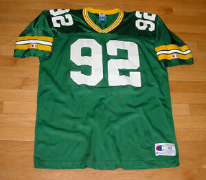 Vintage 90s Green Bay Packers REGGIE WHITE Football Jersey by Champion Sz 48