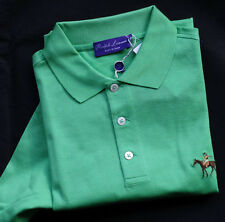 "RALPH LAUREN PURPLE LABEL   Polohemd MADE IN ITALY ""BRIGHT GREEN"" Gr L"