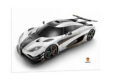 Koenigsegg One:1 - 30x20 Inch Canvas - Framed Picture Print Wall Art