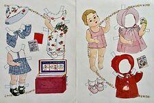 Patsy Doll & her Wardrobe Paper Doll, Lauren Welker Artist, Doll Reader Mag.1983