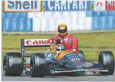 Nigel Mansell and Ayrton Senna, British GP 1991 art print