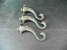 SET OF 3 BRONZE ANTIQUE EMPIRE AGE LIGHT ARMS WITH SWANS 6207