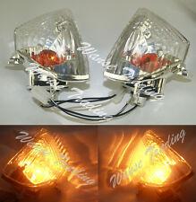 Rear Turn Signals Light Bulb Clear Lens Fit 2006-2007 SUZUKI GSXR 600 750 K6 K7