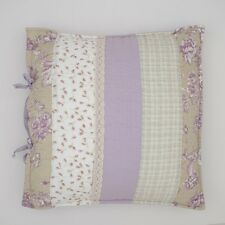 Lavender Bay quilted patchwork cushion cover 45 x 45