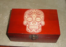 Sugar Skull Dia de los Muertos engraved shot glass set Home Decor Barware NEW