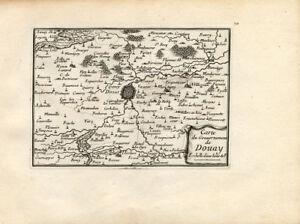 Antique Map-DOUAI-DOUAY-FRANCE-Beaulieu-1667