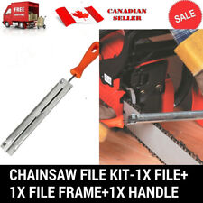 "3 PC CHAINSAW CHAIN SHARPENING FILE GUIDE KITS 3/16"" SUIT STIHL HUSQVARNA"