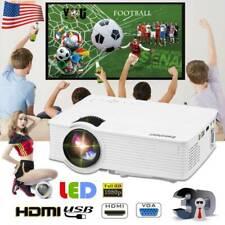 HD Multimedia LED Projector Mini LCD Home Cinema Theater USB/AV/VGA 1080P HDMI