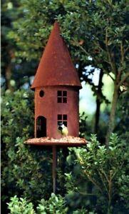 Edelrost Vogelhaus Futterhaus Rost Deko Gartendeko Metall Laterne * H 45 cm *  S