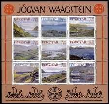 Faroe Islands 2005 Art MS, Paintings by Jogvan Waagstein, Landscapes, MNH / UNM