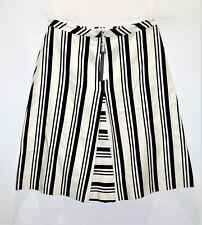 Veronika Maine Brand White Blue Stripe A Line Zip Front Skirt Size 14 BNWT #TD89