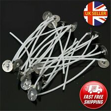 30 x Pre Waxed Candle Wicks with Sustainers Long Tabbed for Candle Making 100mm