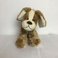 Marks and Spencer Brown and Cream Puppy Dog Beanie Plush Soft Toy M&S 2146 003