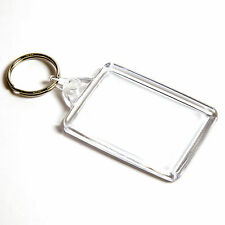 1000 BLANK CLEAR KEYRINGS 50mm x 35mm C102 C1 50 35