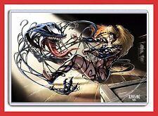 "MARVEL COMICS SPIDER-MAN: VENOM ATTACKING GWEN STACY 11"" X 17"" DIGITAL ART PRINT"