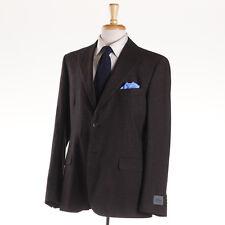 NWT $1975 BELVEST Chocolate Brown Micro Birdseye Silk Suit 42 R (Eu 52)