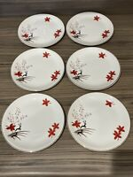 Set of Six Alfred Meakin England Stag Side Tea Plates Vintage VGC 6.5 Inch