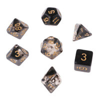 Multi-Sided Dice for Dragons and Dungeon Game Play Gaming Cube,7Pcs