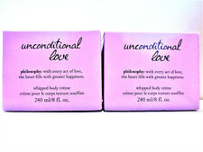 Philosophy UNCONDITIONAL LOVE Whipped Body Creme w/Box, 8 fl. oz/240 mL, NEW x 2