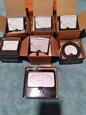 Vintage New In Box Simpson Electric Panel Meters Lot Of 6 Plus 1 Betz Meter
