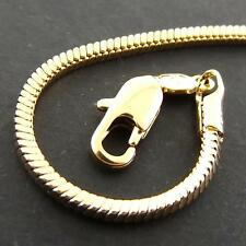 Fs946 Genuine Real 18Ct Yellow G/F Gold Solid Snake Link Pendant Necklace Chain