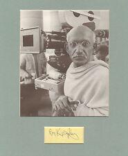 BEN KINGSLEY-GANDHI-SIGNED PICTURE DISPLAY-AFTAL/UACC RD316