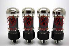 JJ ELECTRONIC 6V6S 6V6 MATCHED QUAD VACUUM TUBE AMP TESTED