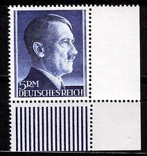 DR 802 B **, 5 RM Hitler Kammzähnung, Eckrand rechts unten