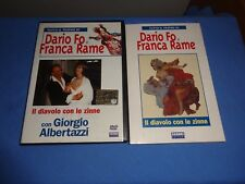 """DARIO FO/FRANCA RAME/ALBERTAZZI """"IL DIAVOLO CON LE ZINNE"""" DVD + LIBRO FABBRI"""