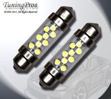 "(1 Pair) Set of 2 pcs Dome Light Festoon 39mm 1.53"" 9 White LED Bulb 6451 561"