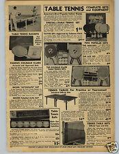 1942 PAPER AD Coleman Clark Table Tennis Racket Bats Becker Ping Pong