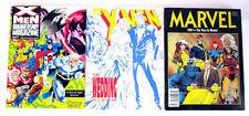 Marvel Comics X-Men Three Magazine Lot Anniversary Year in Review Wedding Album