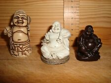 Trio of small Buddha figures