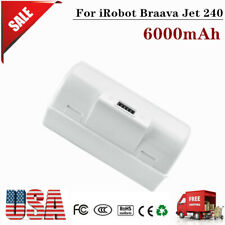 Us 6000mAh Replacement Battery for iRobot Braava Jet 240 Mopping Robots Bc674 Tp