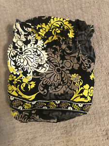 Vera Bradley Ditty Bag Waterproof Travel Pouch Baroque Green White Black