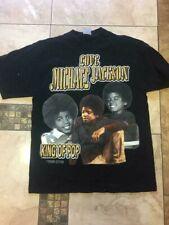 Vtg Michael Jackson T-Shirt Sport L Men Motorcycle Tour Rock Pop