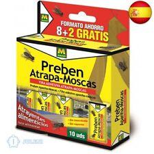 PREBEN 21390 Tira atrapa-Moscas 10 un, Amarillo, 11x14.5x2.5 cm