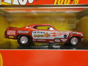 Hot Wheels MONGOOSE FUNNY CAR Red TOM McEWEN 100% w/Display Case