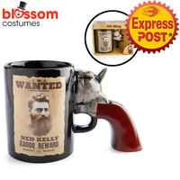 NG24 Ned Kelly Bushranger Ceramic 3D Handle Coffee Mug Drinking Cup Novelty Gift