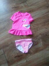Carter's Baby Girl 3 months 2 piece Pink/White Flamingo Bathing Swim Suit
