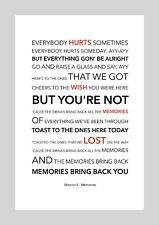 Maroon 5 - Memories - Colour Print Poster Art