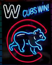 "New Chicago Cubs Win Walking Club Baseball Mlb Neon Sign 24""x20"""