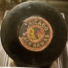 Vintage official game used 1968-69 Converse  Chicago Blackhawks puck ART ROSS
