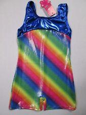 Biketard New Girls Size MC 8-10 Child Rainbow Dance Gymnastics Unitard Leotard