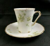 🟢 Theodore Haviland Limoges France Schleiger 150b Chocolate Cup & Saucer Set