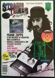 STRANGE THINGS MAGAZINE ~ #5 UK 1989. Frank Zappa & MOI, Straight Records