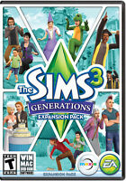 The Sims 3: Generations - PC MAC - expansion pack - fast free post